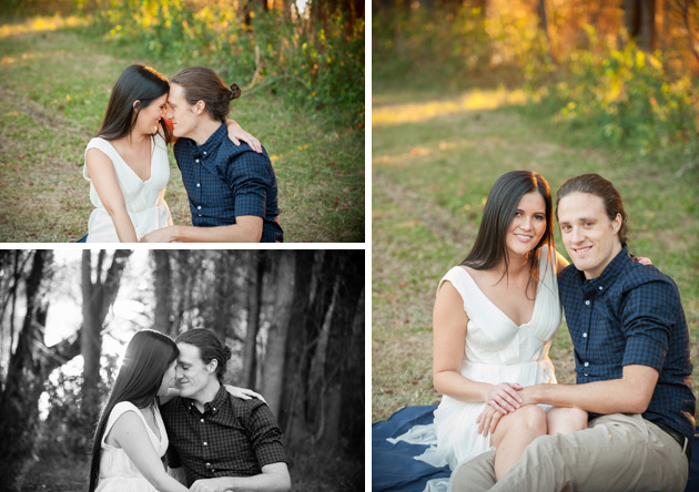 Professional Engagement Portrait Photography - 10 portrait photos of people before after the photographer kissed them