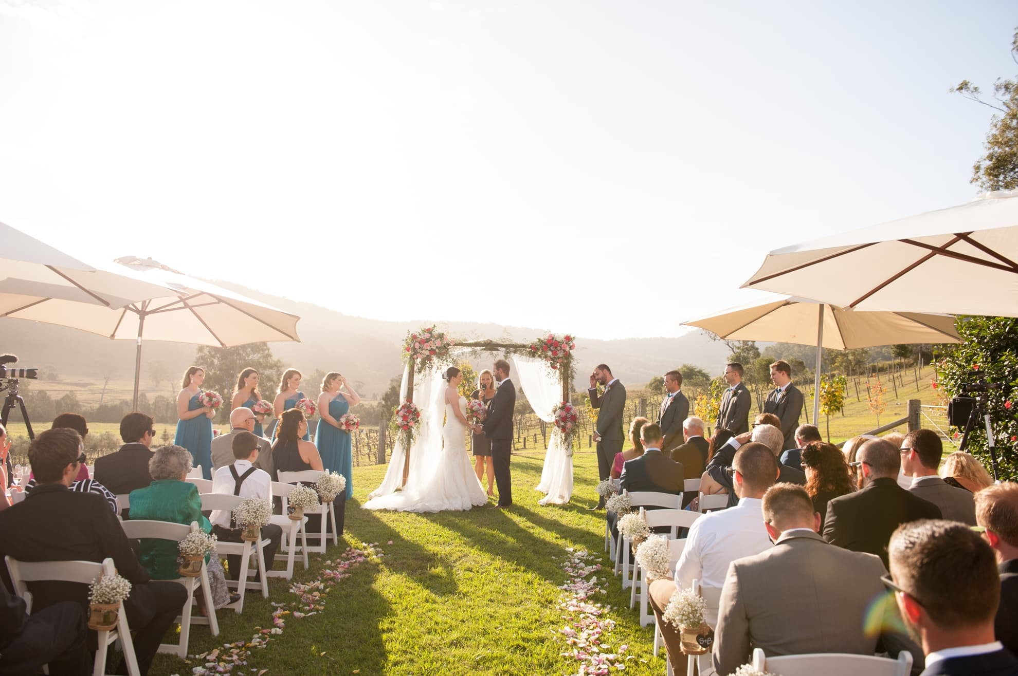 the-ceremony-location-vineyard-in-the-background-with-the-guests-and-bridal-party