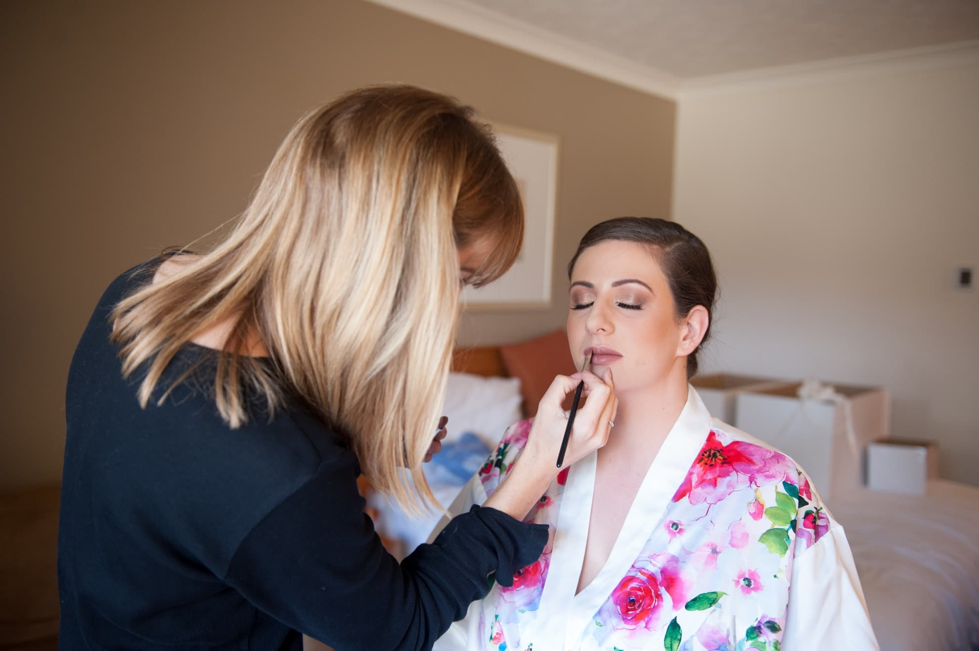 bride-to-be-getting-her-lipstick-on